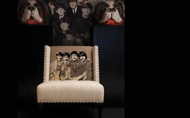 Beatles embroidered chair from Andrew Martin International