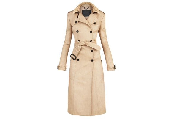 Woven raffia trench coat from Burberry