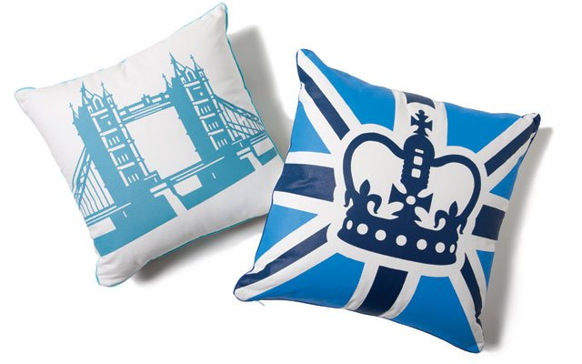 Tower Bridge/Prince pillows, by Naked Décor, from marti...