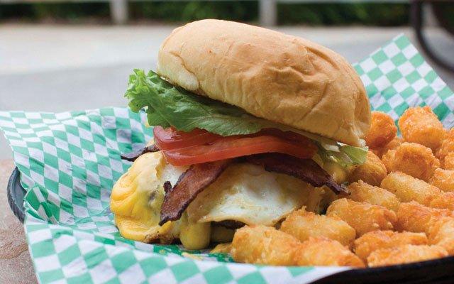 Erik's Power Burger at Morty's
