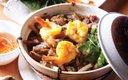 shrimp pot at Que Nah