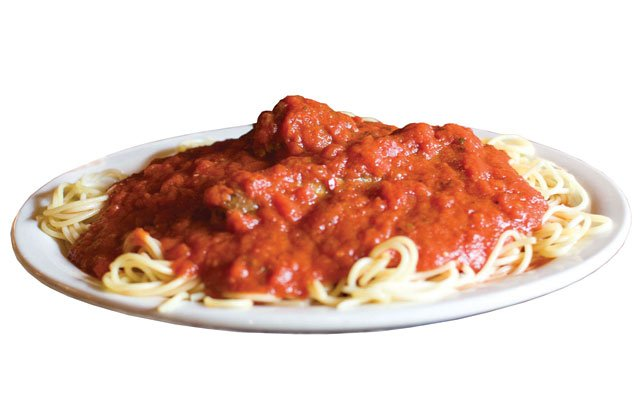 Spaghetti and meatballs at Degidio's Restaurant & Bar