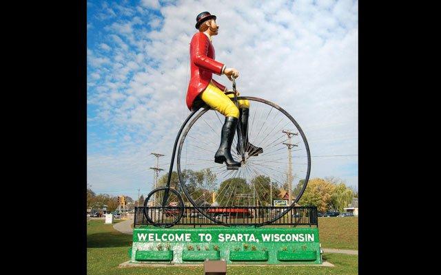 Ben Bikin' in Sparta, Wisconsin