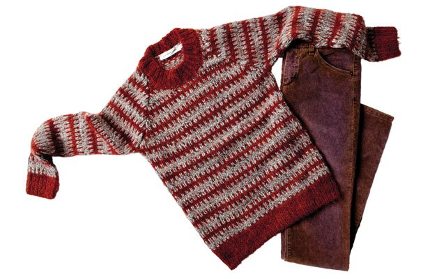 good stuff sweater and jeans