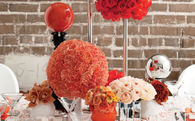 Beyond the Blooms: funky tablescape